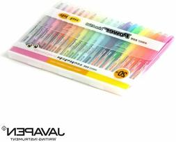 JAVAPEN rainbow pastel Highlighter brush Chisel Tip Pens (Mi