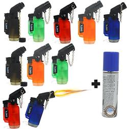 Jet Flame Torch Lighter Mini 10 Pack Blow Torch refillable L