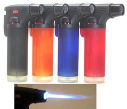Eagle 4 Pack Jet Torch Gun Lighter Adjustable Flame Windproo