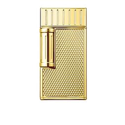 julius flint double flame lighter polished gold