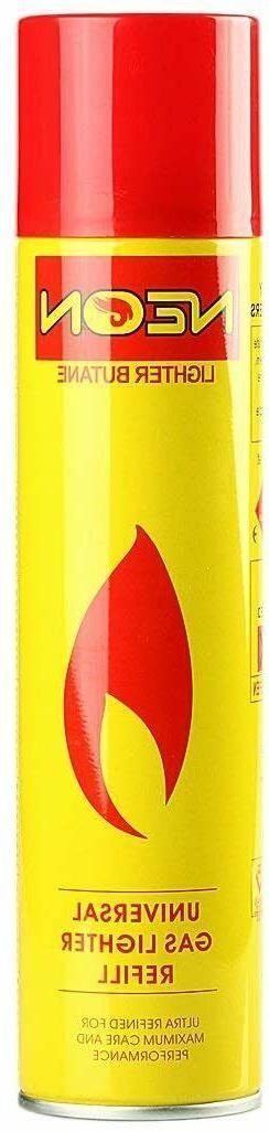 1 Ct NEON Gas Lighter Refill Butane Universal Fluid Ultra Re