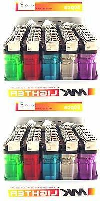 100 Disposable Cigarette Lighters Wholesale Bulk Lot Lighter
