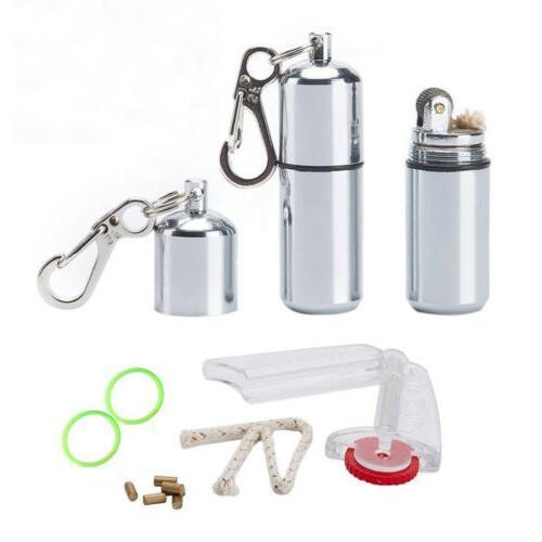 2 Pcs EDC Waterproof Peanut Lighter Fire Starter Survival Em