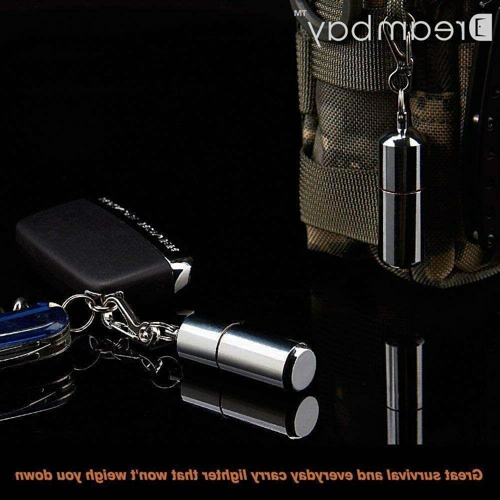 2 Pcs Waterproof Keychain Lighter Survival