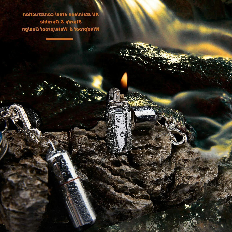 2 Waterproof Keychain Survival