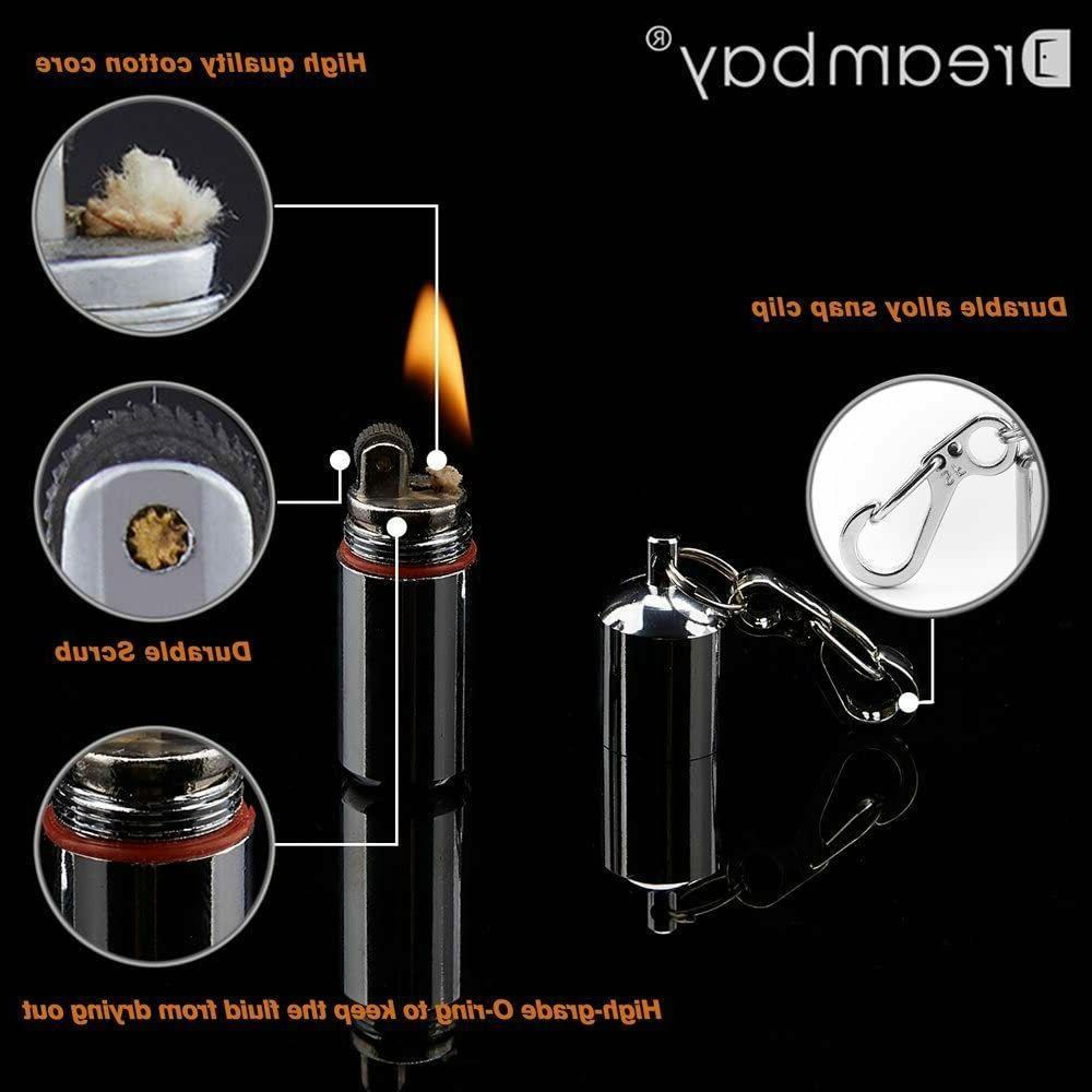 2 Pcs EDC Peanut Waterproof Keychain Lighter for Survival Em