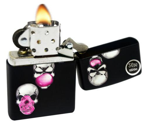 Zippo Skull Bubble Windproof Pocket