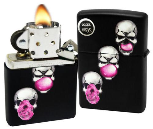 29398 skull bubble gum black matte finish