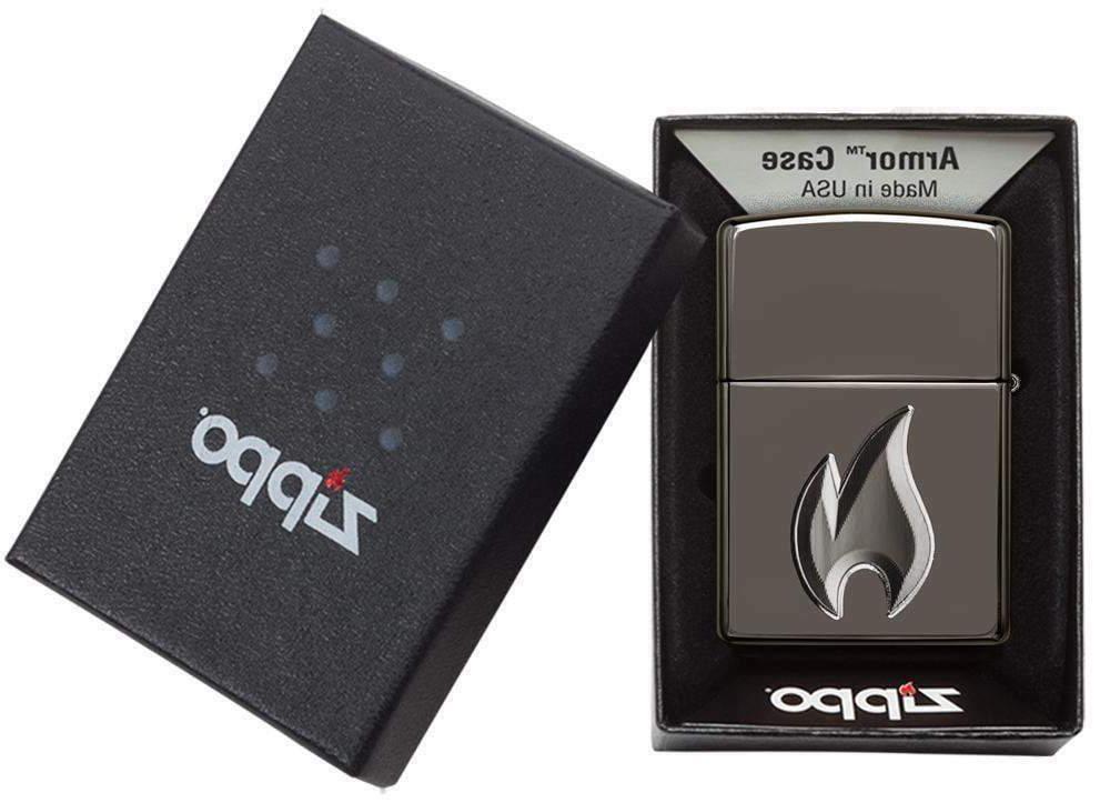 Zippo 29928, 3D Deep Flame Design, Black