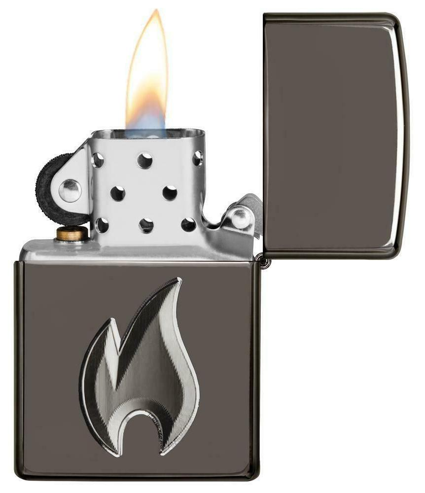 Zippo 29928, Armor, 3D Deep Black Ice Lighter