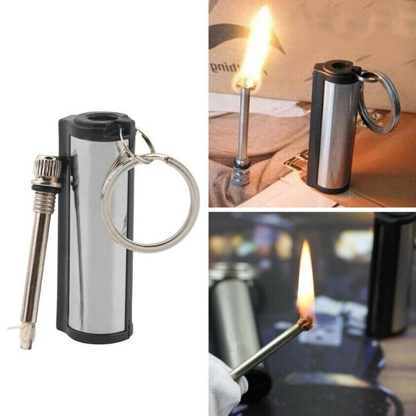 2 PCs Permanent Match Keychain Emergency Lighter Waterproof