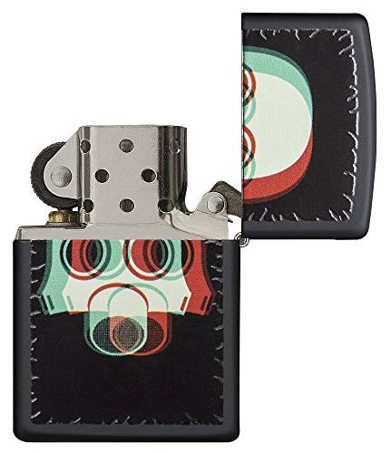 Zippo Nuclear Pocket Lighter, Black Matte