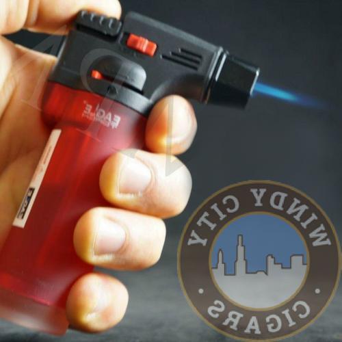 4 Pack Torch Gun Butane Refillable Windproof+