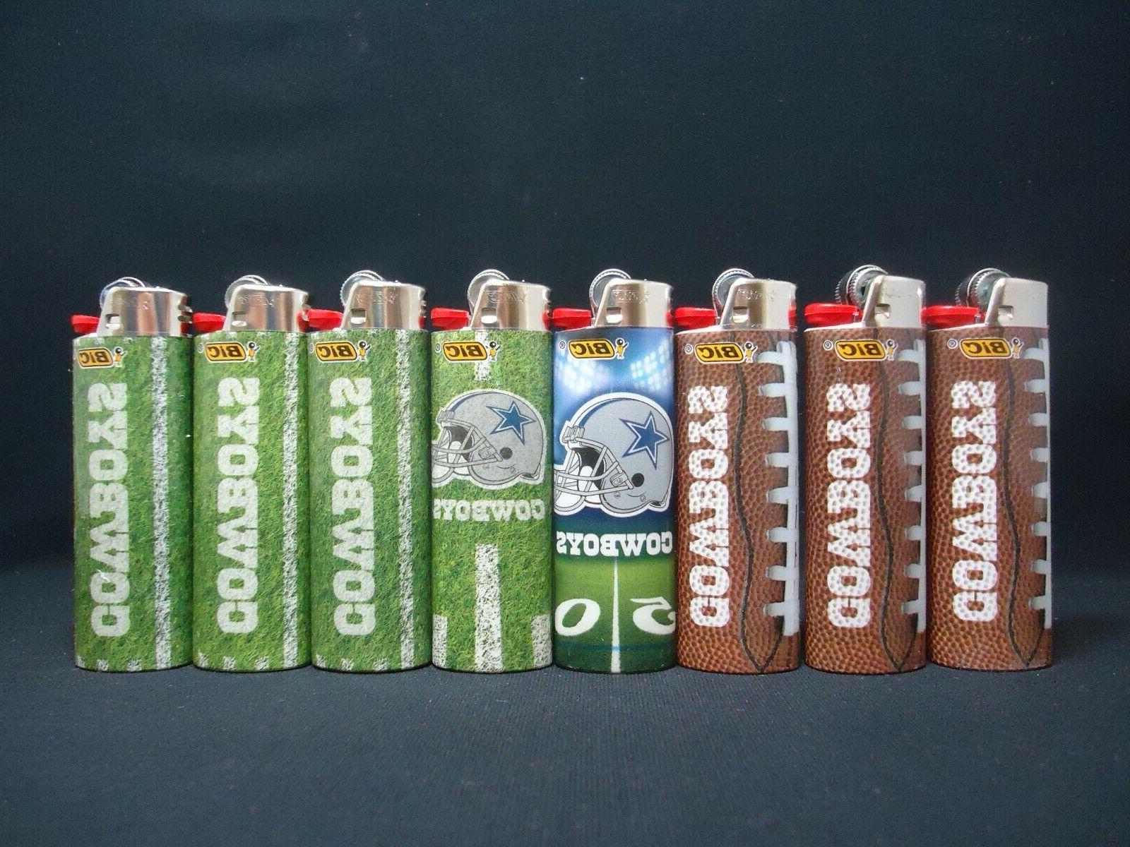 5 Dallas Cowboys Bic Lighters Styles May Vary