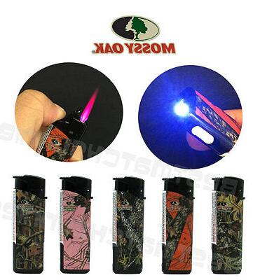 50 Pack Mossy Oak Jet Flame Butane Torch Lighter Refillable