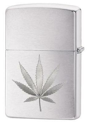 Zippo Windproof Laser Engraved Marijuana Leaf Lighter, 29587