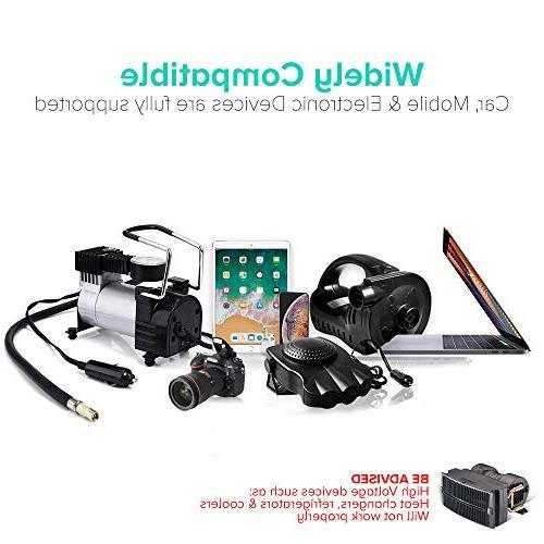 Socket Adapter to 12V Car Lighter Socket With USB AC DC Adapter 110~220V 12V