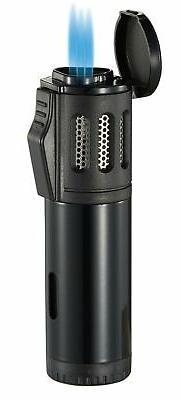 Visol Artemis Triple Flame Torch Lighter - Black