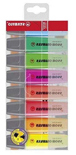 Stabilo BOSS Original Highlighter, 2mm + 5mm Tips - 8-Color