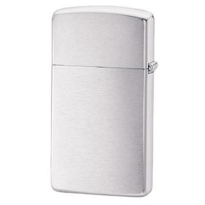 brushed chrome slim pocket lighter