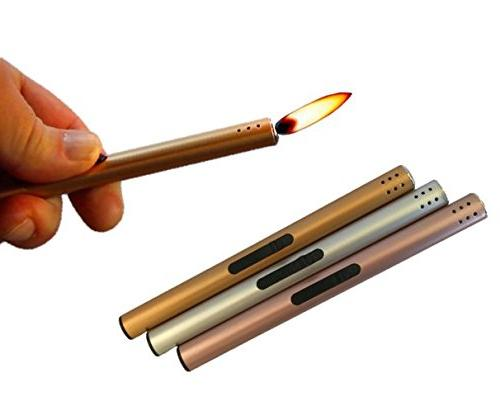 butane lighter with real flame for candles