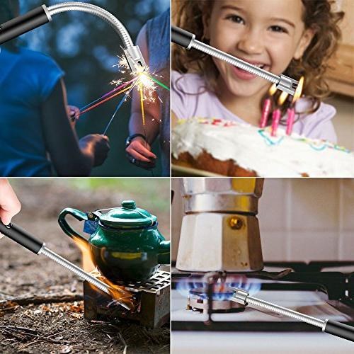 RONXS Upgraded Electric Arc with LED Battery Switch, w/Longer Flexible Camping Cooking Fireworks