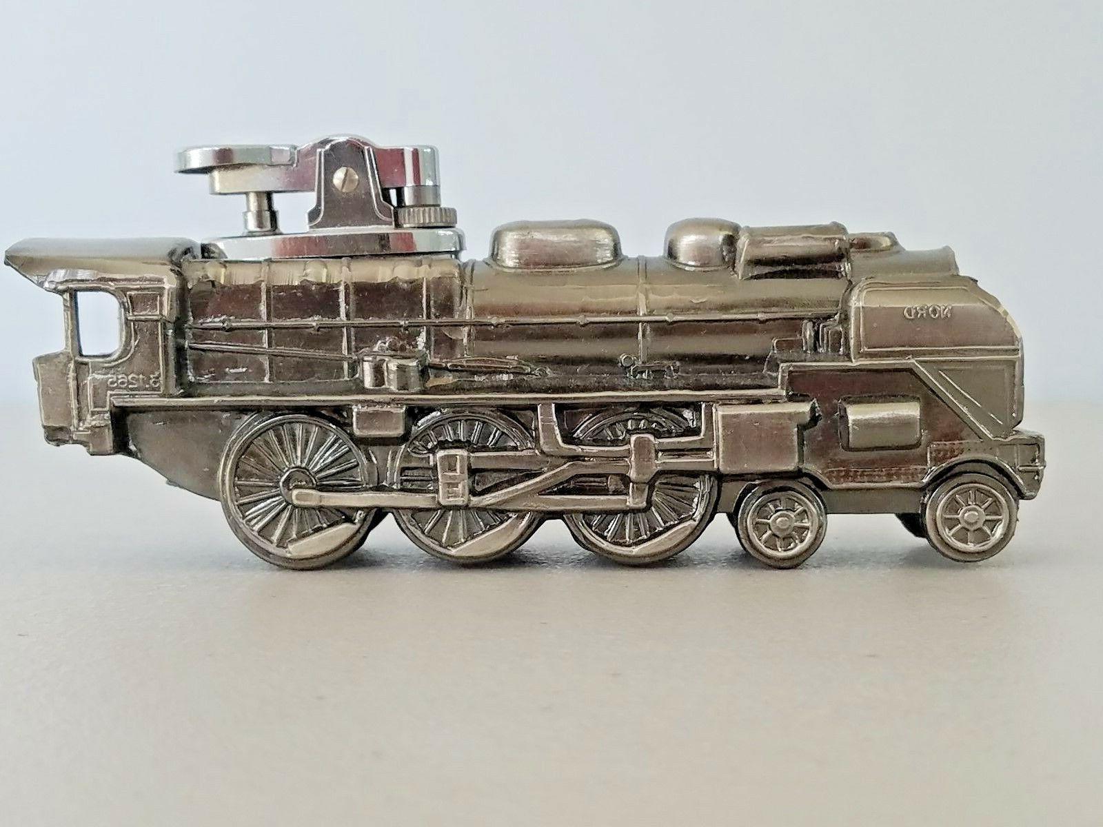cast metal cigarette lighter locomotive train engine