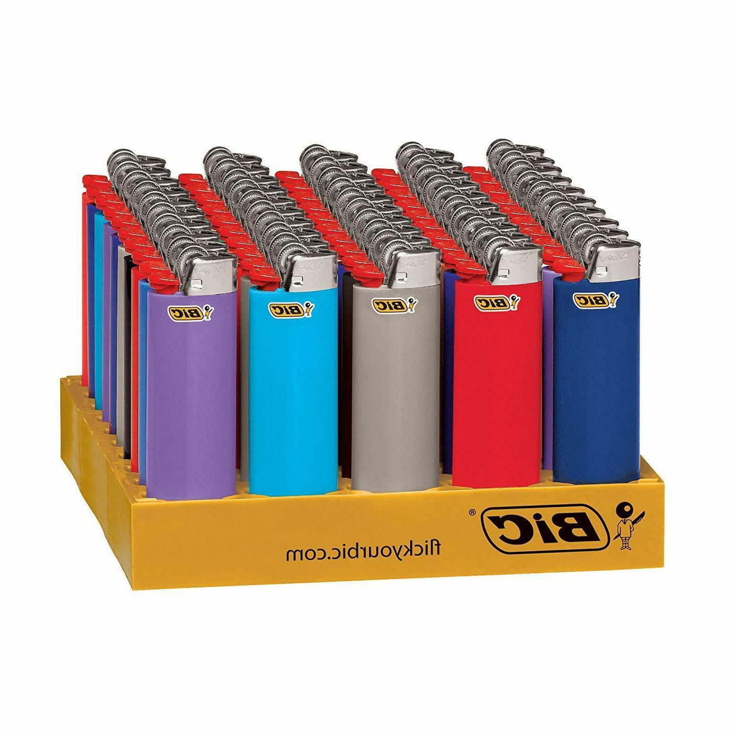 BIC Classic Lighter, Assorted Colors, 50 Pack