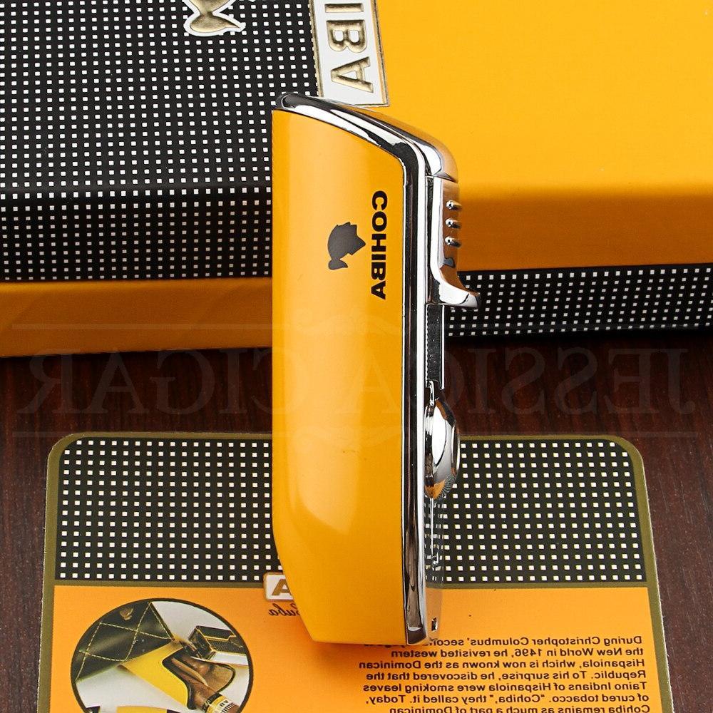 COHIBA Pocket Jet Blue Flame Cigarette <font><b>Lighters</b></font> With <font><b>Cigar</b></font>