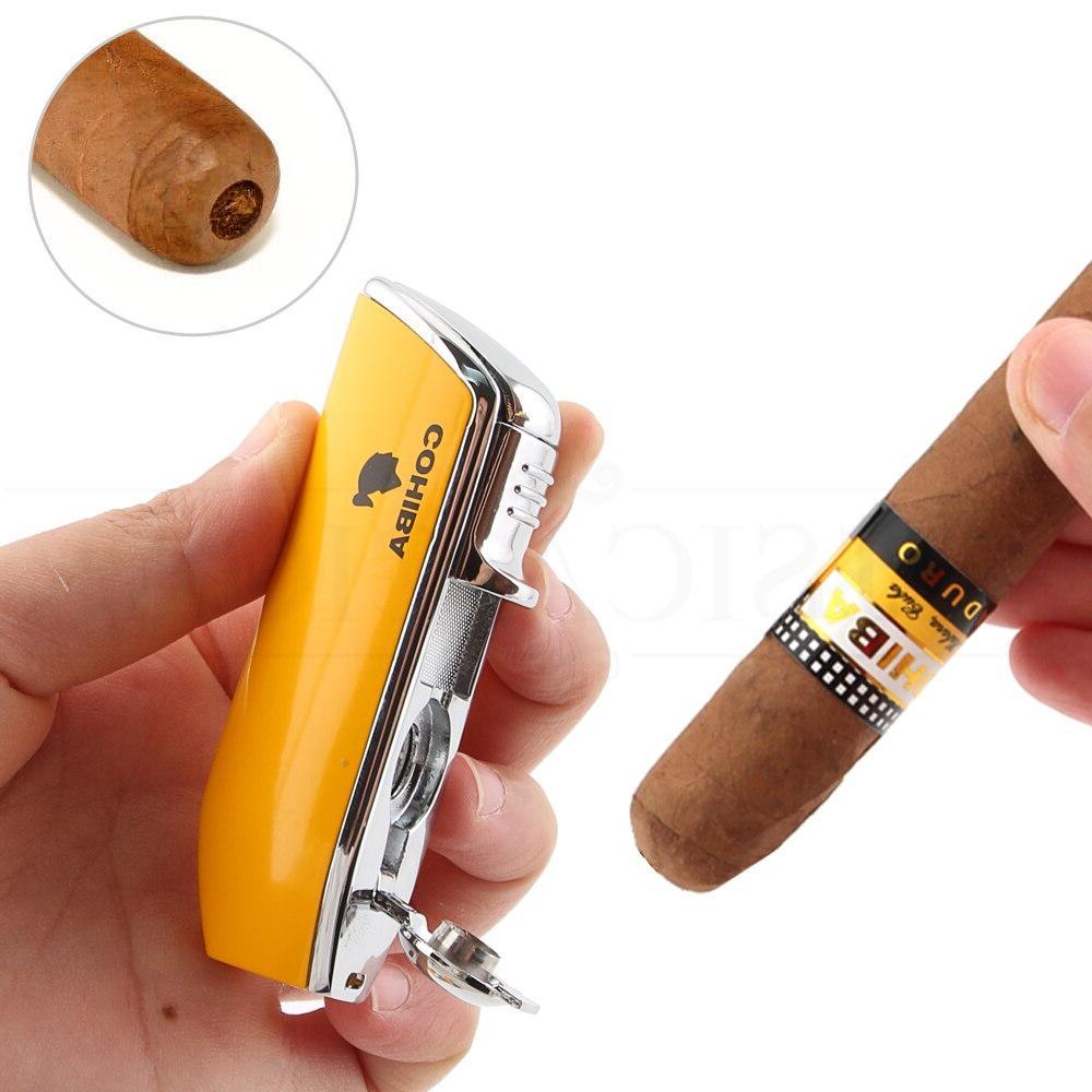 COHIBA Pocket <font><b>Cigar</b></font> Jet Blue Torch Cigarette Punch Box