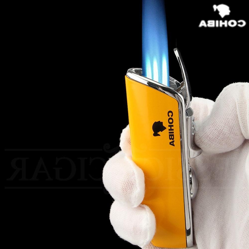 COHIBA Windproof Pocket 3 Jet Cigarette Punch Gift Box