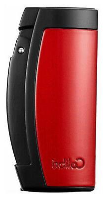 Colibri Enterprise 3 Red+Black Triple Jet Lighter With Steel