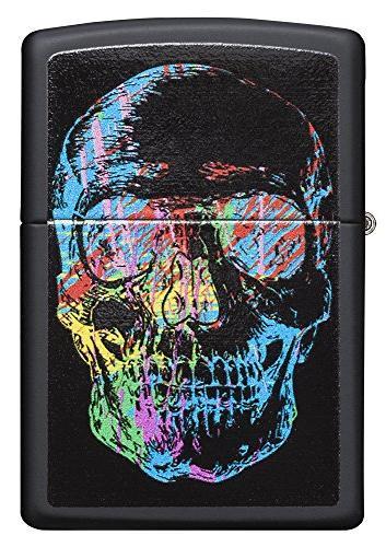 Zippo Colorful Skull Lighter, Matte