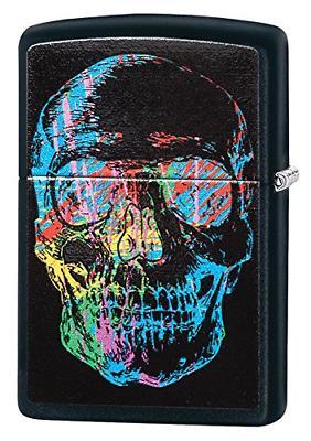 colorful skull pocket lighter matte