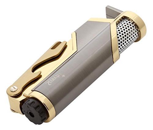 Scorch Torch Donatello Single Jet Butane Torch Cigarette Cigar Opener
