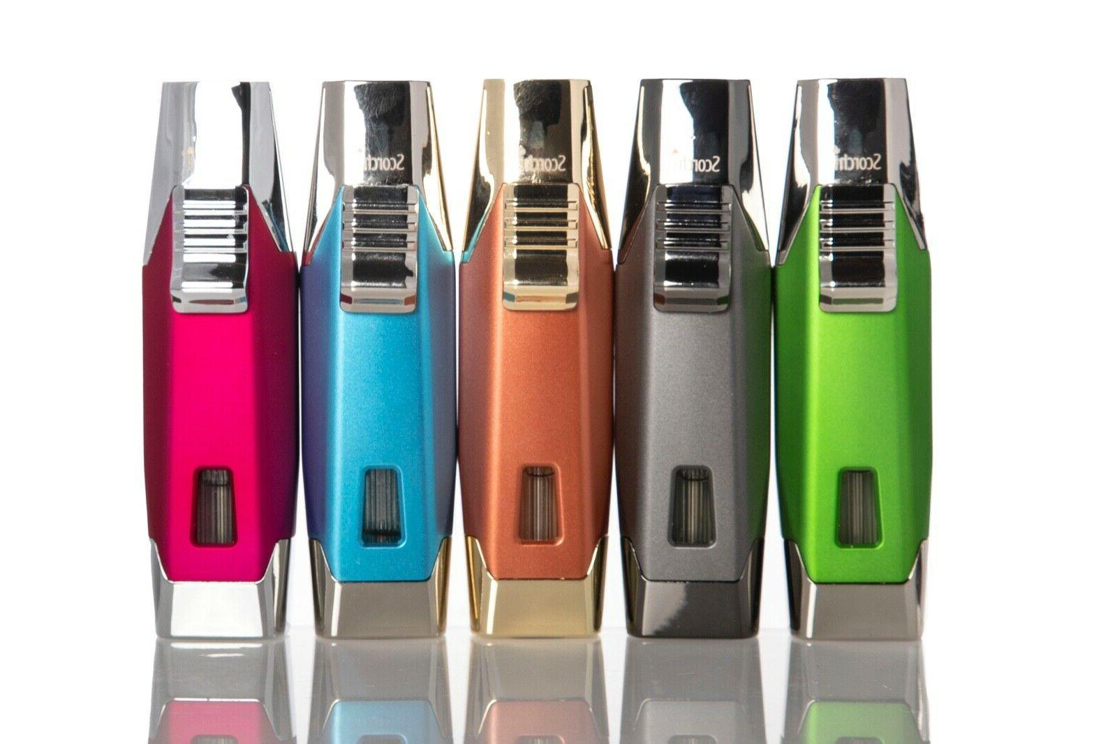 double flame refillable torch lighter