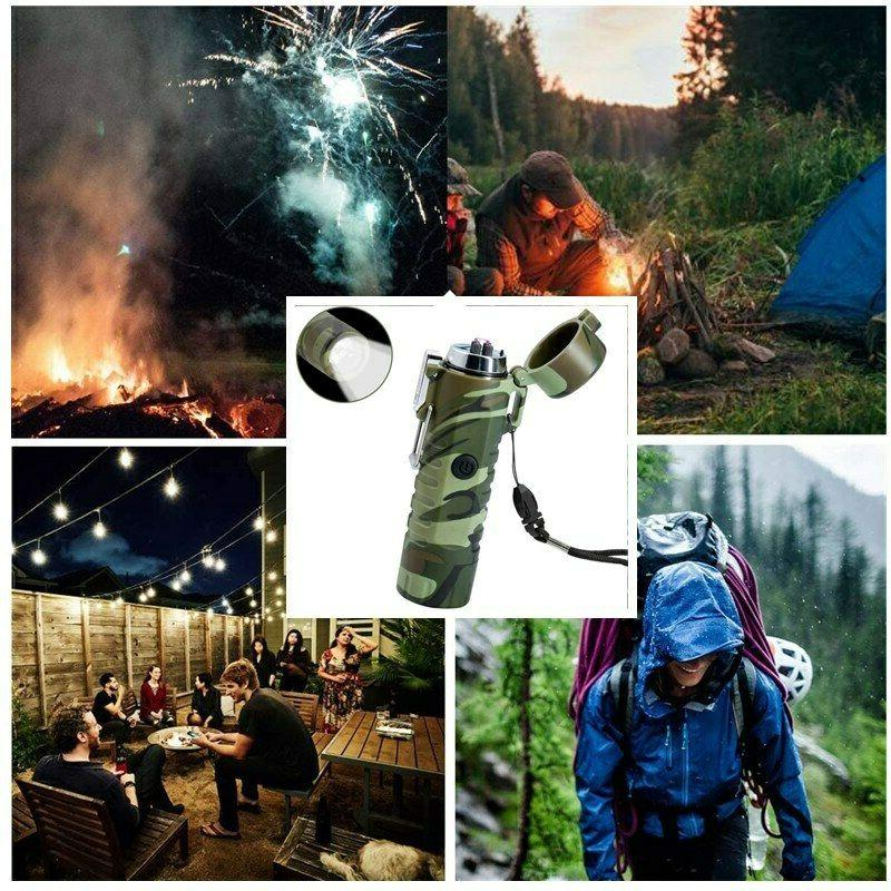 Dual Arc Plasma Lighter LED for Camping and