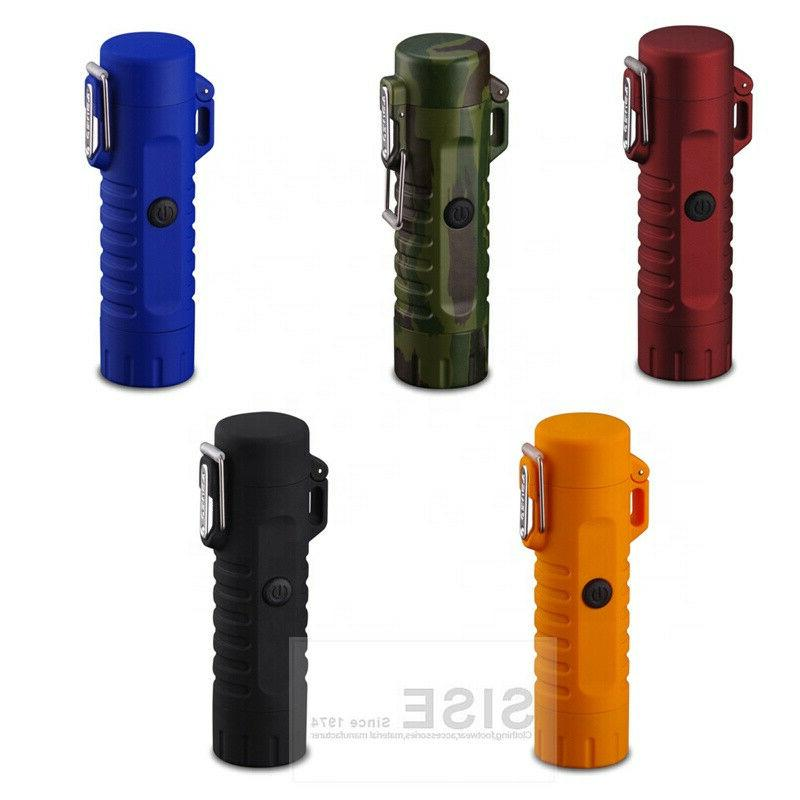 Dual Lighter with Flashlight for Camping and