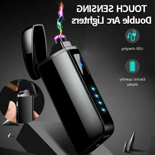 Hot Dual Arc Electric USB Lighter Rechargeable Flameless Win
