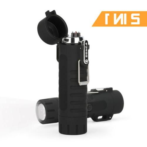 Mini Dual Arc Electric USB Lighter Waterproof Rechargeable O