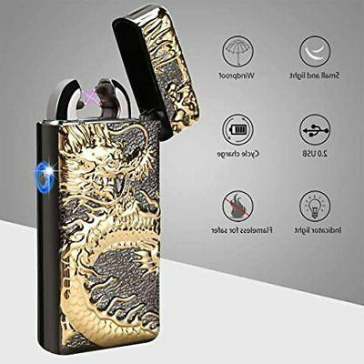 Dual USB Rechargeable Windproof Butane Free