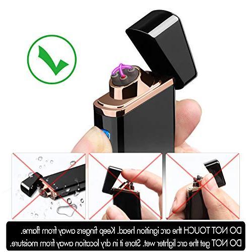 Lighter, Electric Arc USB Rechargeable Lighter Plasma Lighter Battery Cigar, Cigarette, Pipe,