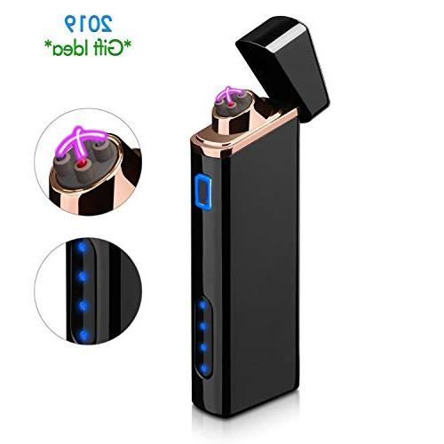 electric arc lighter usb rechargeable windproof lighter