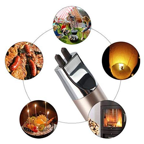 REIDEA Electronic Arc Flameless Rechargeable Protector Button, Safety Home Kitchen BBQ Camping Stove, Cable