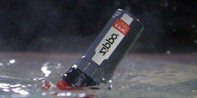 Zippo Emergency Red/Gray, Water In Blister #40478