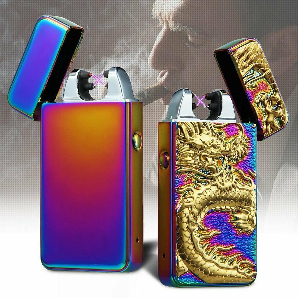 Encendedor Cigarrillo Electrico Doble Resistente Al Viento