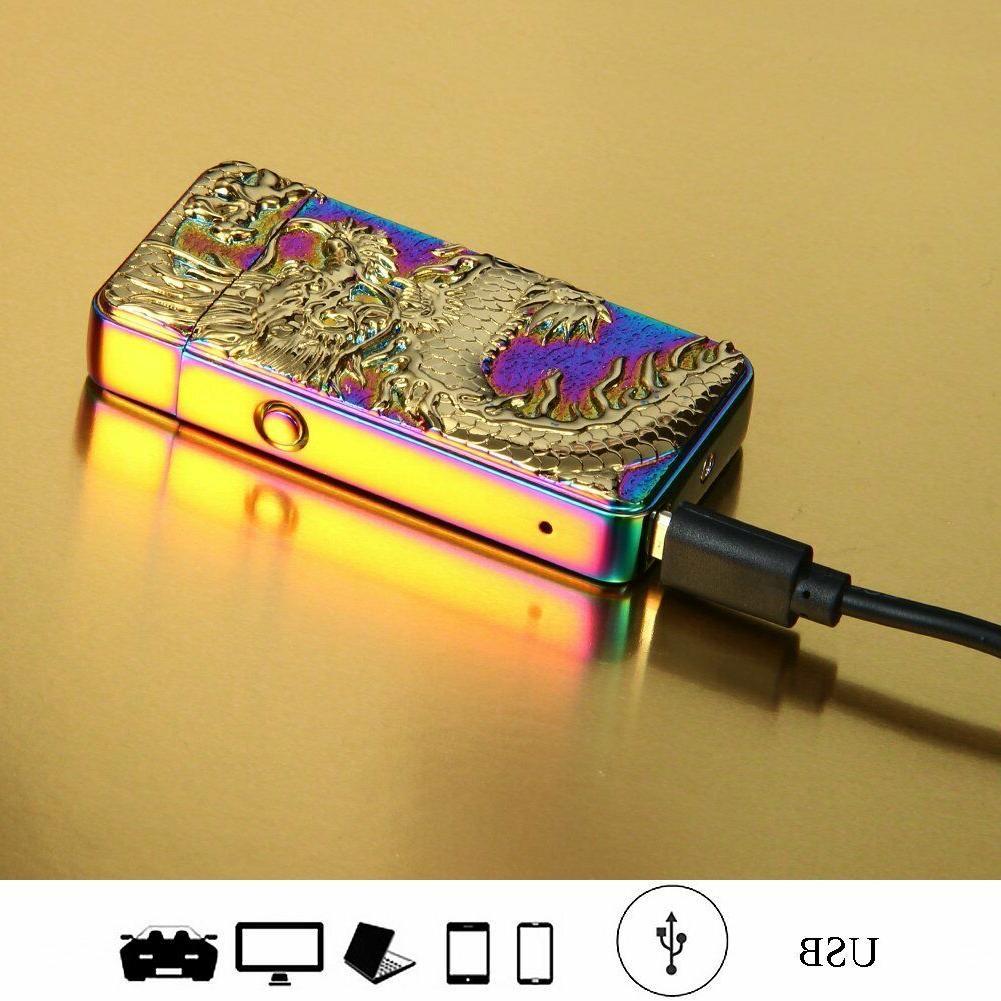 Encendedor Cigarrillo Electrico Arco Doble Resistente Al