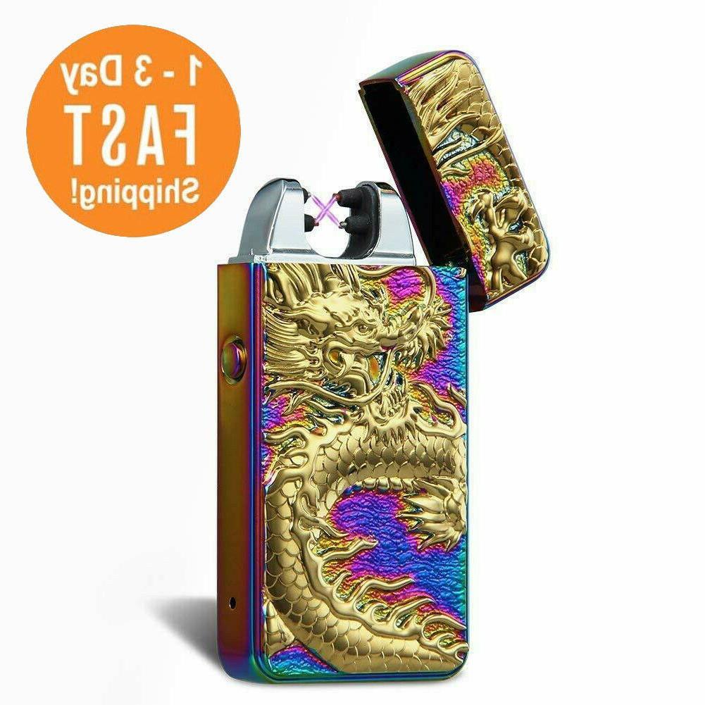 encendedor cigarrillo electrico arco doble recargable usb