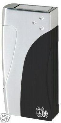 Colibri Evolve Blue BLACK POISHED Silver LIGHTER QTR811001