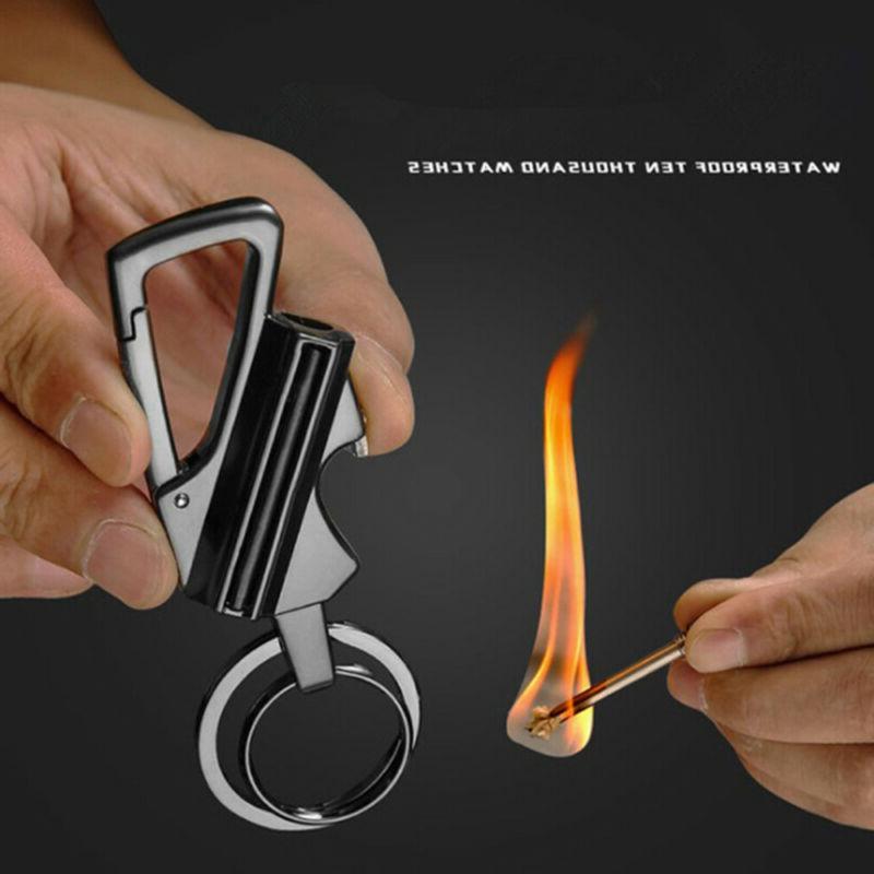 Fire F-lint Match Survival Keychain